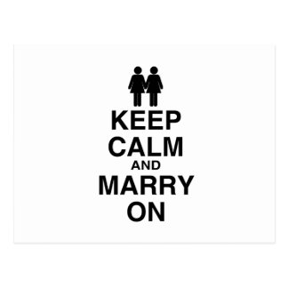 KEEP CALM AND MARRY ON (LES POSTCARD