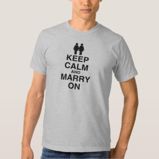 KEEP CALM AND MARRY ON (LES TEE SHIRT