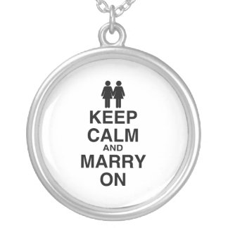 Keep Calm and Marry On - Personalized Necklace