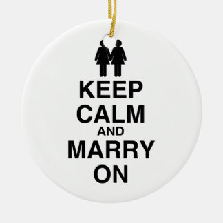 Keep Calm and Marry On Ornament