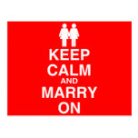 Keep Calm and Marry On Postcard
