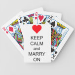 Keep Calm and Marry On Red Heart Playing Cards