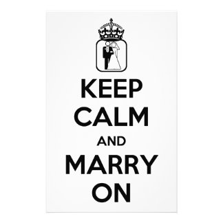 Keep Calm and Marry On Stationery Design