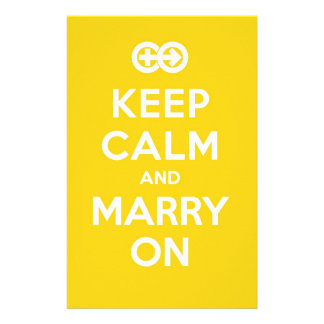 Keep Calm And Marry On Stationery