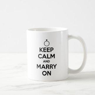 Keep Calm and Marry On - Wedding & Marriage Classic White Coffee Mug