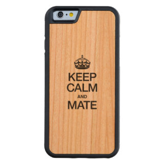 KEEP CALM AND MATE CARVED® CHERRY iPhone 6 BUMPER CASE