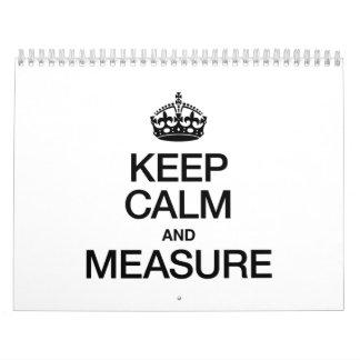 KEEP CALM AND MEASURE WALL CALENDAR