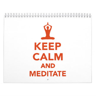 Keep calm and meditate calendar