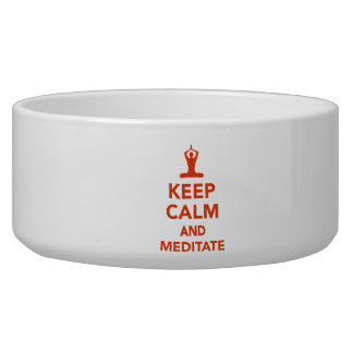 Keep calm and meditate dog water bowls