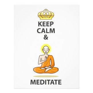 Keep Calm and Meditate Vector Art Gold Crown Letterhead