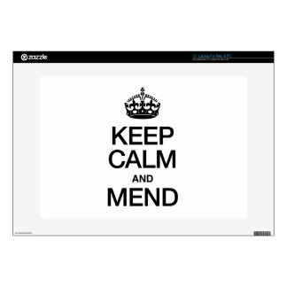 KEEP CALM AND MEND LAPTOP DECALS