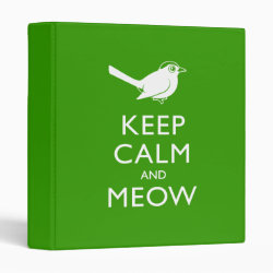 Avery Signature 1' Binder with Keep Calm and Meow design