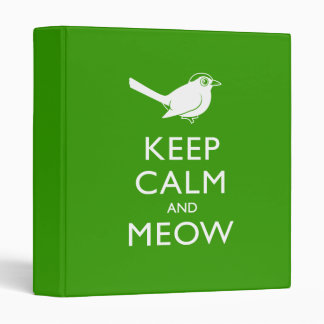 Keep Calm and Meow Binder