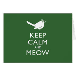 Greeting Card with Keep Calm and Meow design