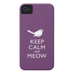 Case-Mate iPhone 4 Barely There Universal Case with Keep Calm and Meow design