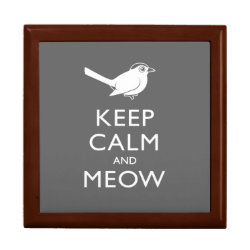 Large 7.125' Square w/6' Tile Gift Box with Keep Calm and Meow design