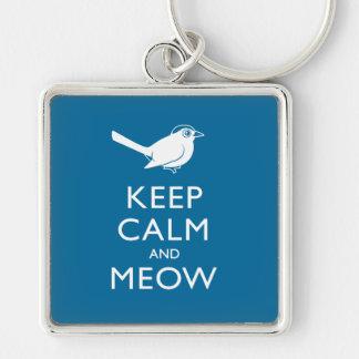 Keep Calm and Meow Keychain