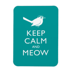 3'x4' Photo Magnet with Keep Calm and Meow design