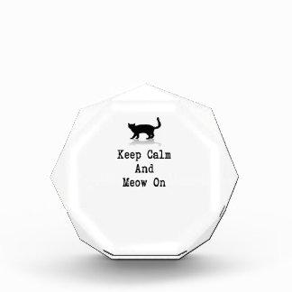 Keep Calm and Meow On Award