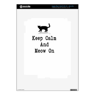 Keep Calm and Meow On iPad 3 Skin