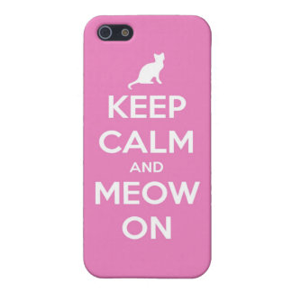 Keep Calm and Meow On Pink Cover For iPhone SE/5/5s
