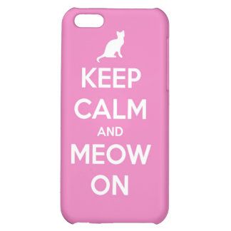 Keep Calm and Meow On Pink iPhone 5C Covers
