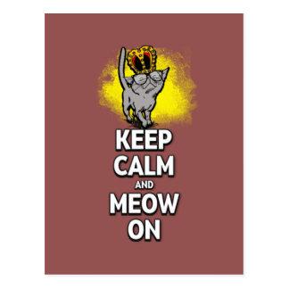 Keep Calm And Meow On! Postcard