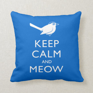 Keep Calm and Meow Throw Pillow