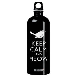 SIGG Traveller Water Bottle (0.6L) with Keep Calm and Meow design