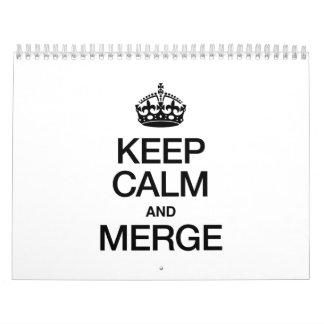 KEEP CALM AND MERGE WALL CALENDARS