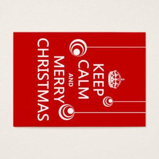 Keep Calm and Merry Christmas Business Card
