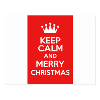 Keep Calm And Merry Christmas Postcard