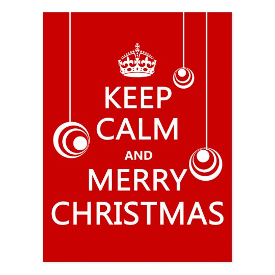 Keep Calm and Merry Christmas Postcard