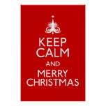 Keep Calm and Merry Christmas Poster