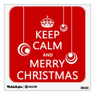 Keep Calm and Merry Christmas Room Stickers