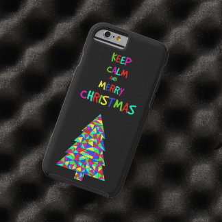 Keep calm and merry Christmas! Tough iPhone 6 Case