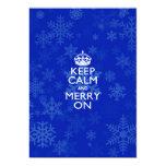 Keep Calm And Merry On Blue Card