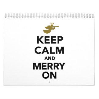 Keep calm and Merry on Calendar