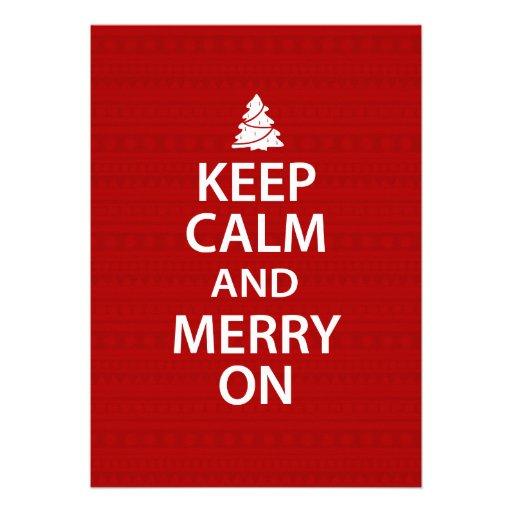 Keep Calm and Merry On Custom Invitation