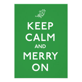 Keep Calm and Merry On Invite