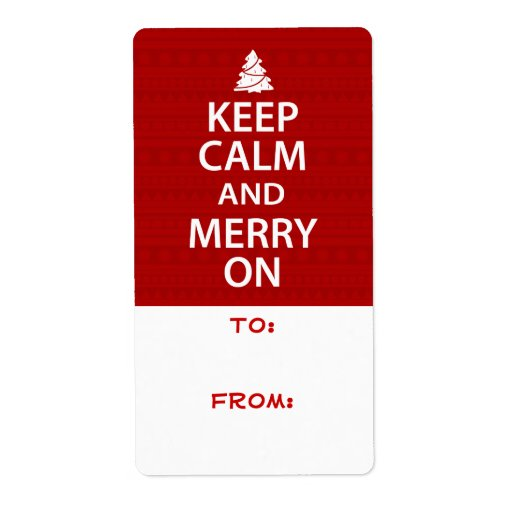 Keep Calm and Merry On Labels