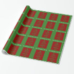 Keep Calm and Merry On Personalized Gift Wrap