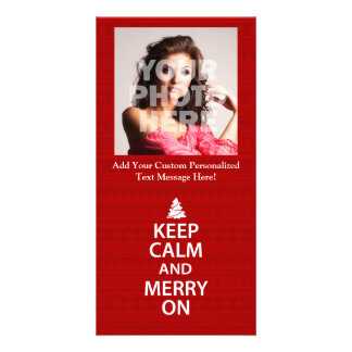 Keep Calm and Merry On Photo Card