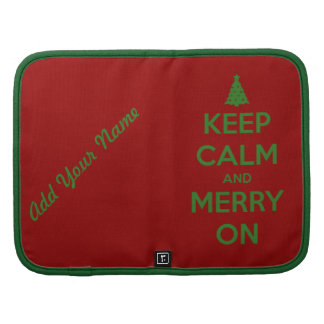 Keep Calm and Merry On Red and Green Organizers