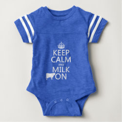 Baby Football Bodysuit with Keep Calm and Milk On design