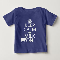 Baby Fine Jersey T-Shirt with Keep Calm and Milk On design
