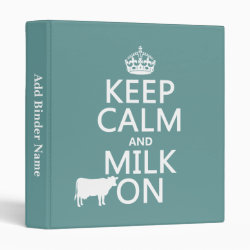 Avery Signature 1' Binder with Keep Calm and Milk On design