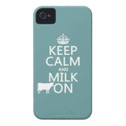 Case-Mate iPhone 4 Barely There Universal Case with Keep Calm and Milk On design