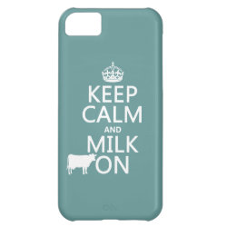 Case-Mate Barely There iPhone 5C Case with Keep Calm and Milk On design