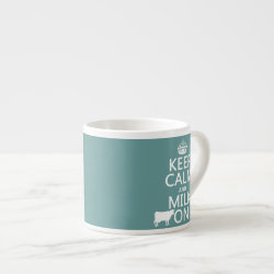 Espresso Cup with Keep Calm and Milk On design